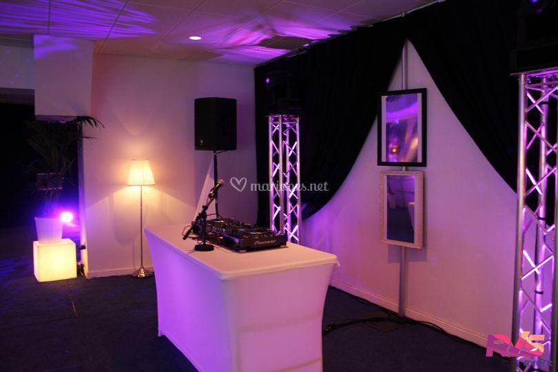 Rvs event for Lumiere salon decoration