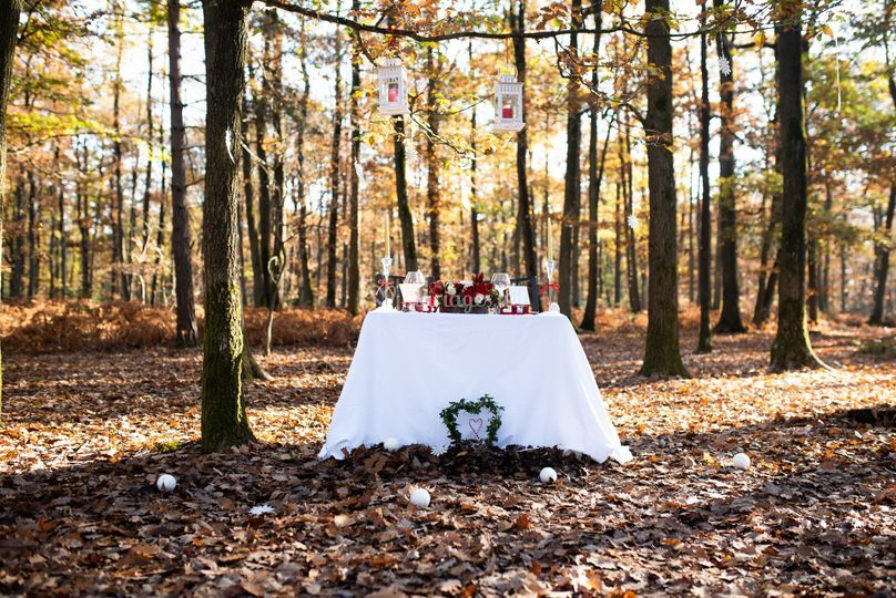 Mariage d'hiver - Table