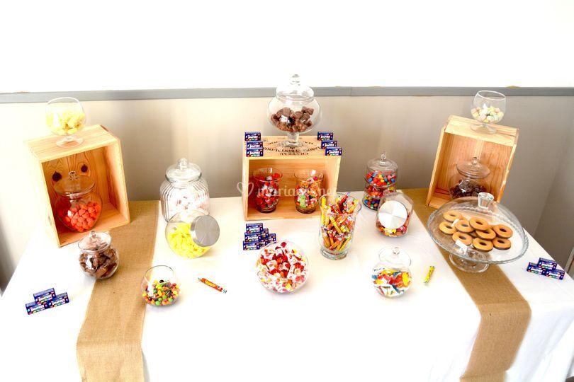 Exemple de notre candy bar