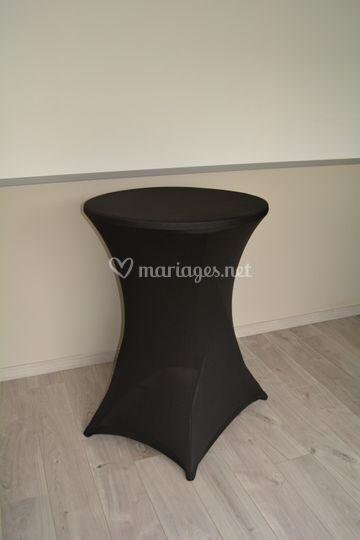 Table mange-debout noire