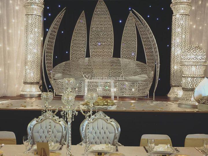 Trone lotus + table honneur