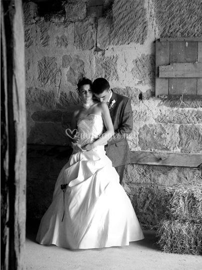 Amoureux en noir et blanc