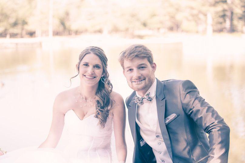 Photos mariage lac