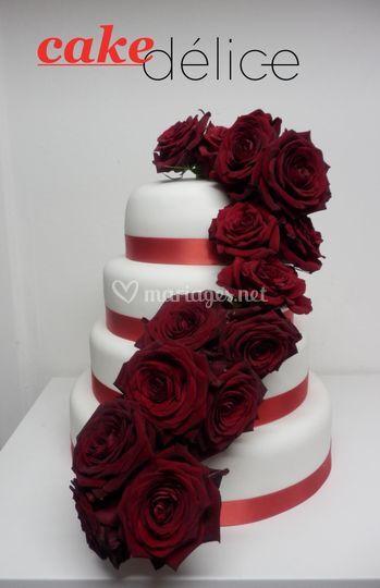 Wedding cake rose