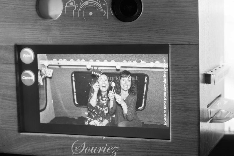 Borne selfie dans la caravane