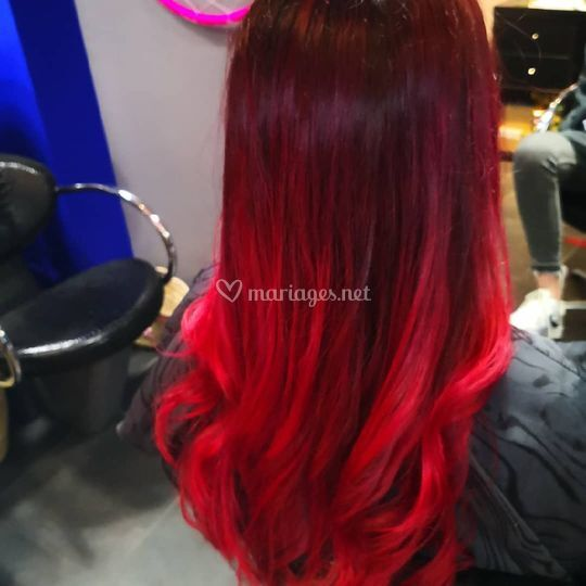Ombre hair rouge