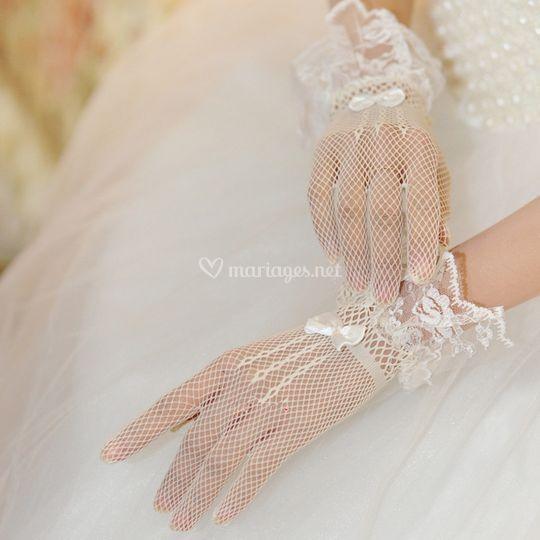 Gants mariée