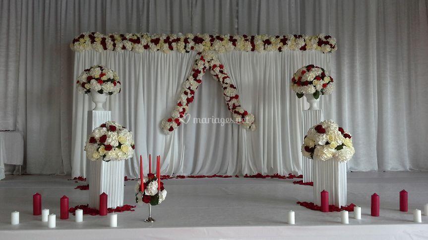 Podium des mariés