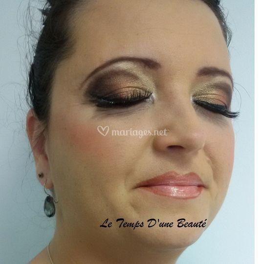 Maquillage mariée oriantale