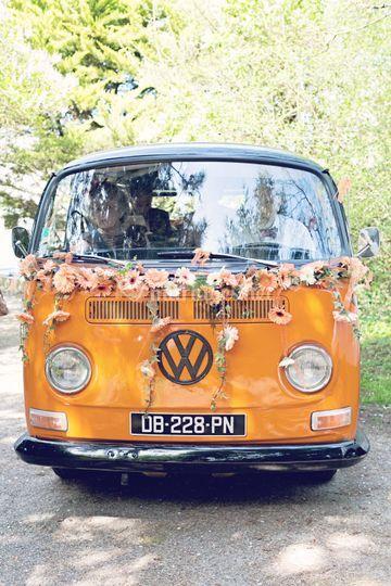 Combi VW pour mariage chic