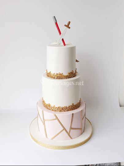 Wedding cake Chic & Geek