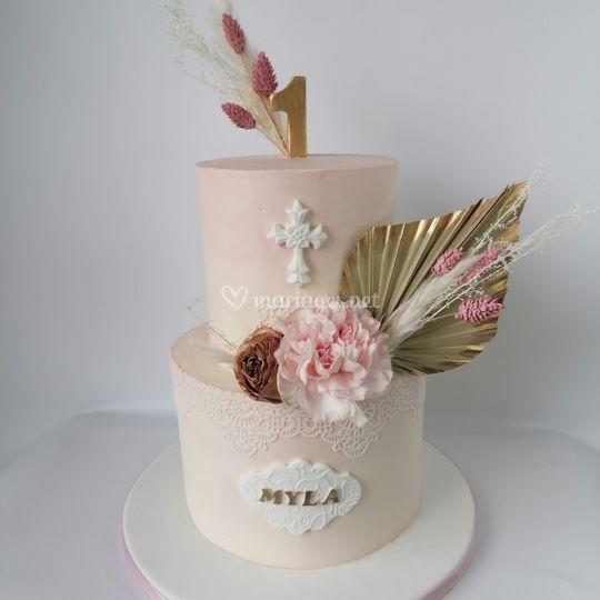 Wedding cake fleurs séchées