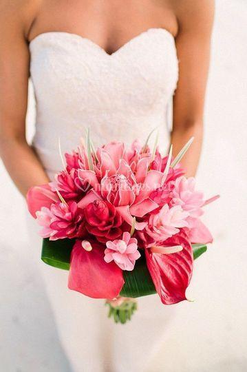 Mariage fleur exotic reunion