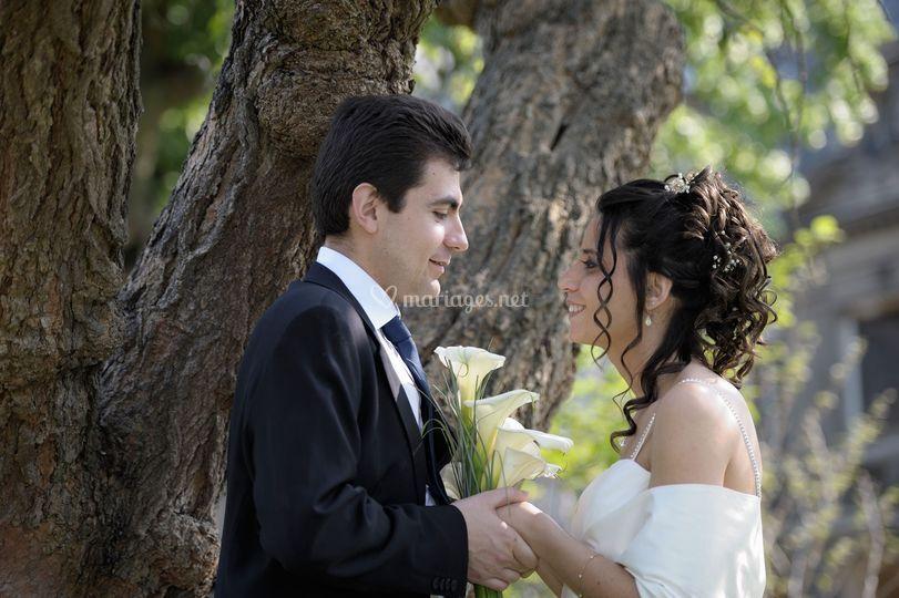 Les mariés sous un arbre