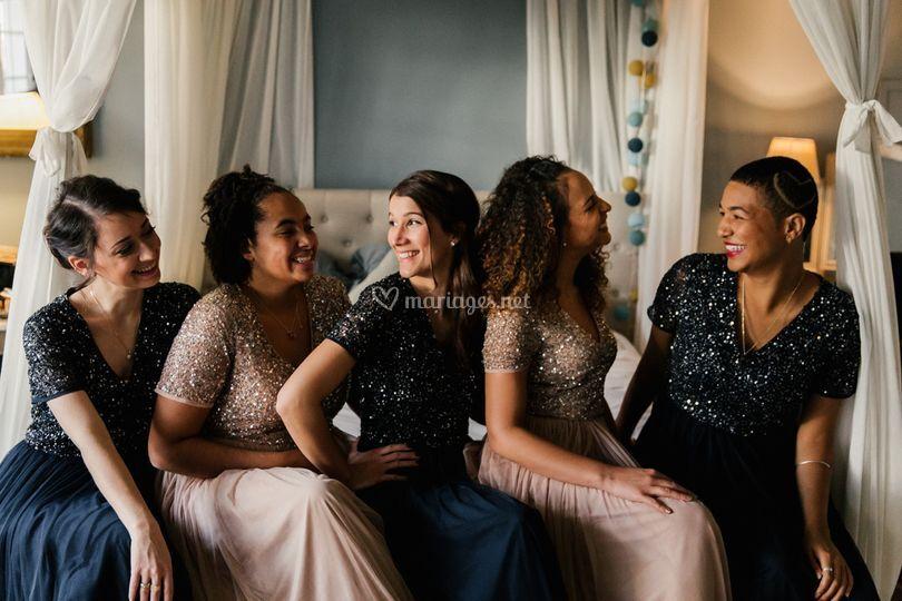 Photo des témoins de la mariée