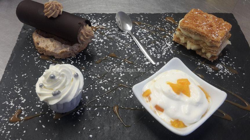Dessert ardoise