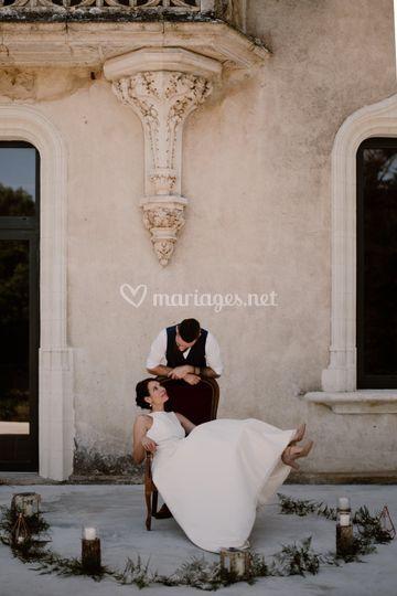 Mariage nature au château