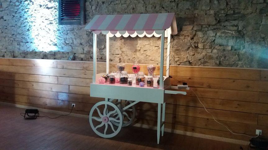 Chariot à candy bar