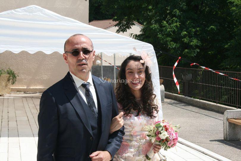 J'accompagne les mariés...