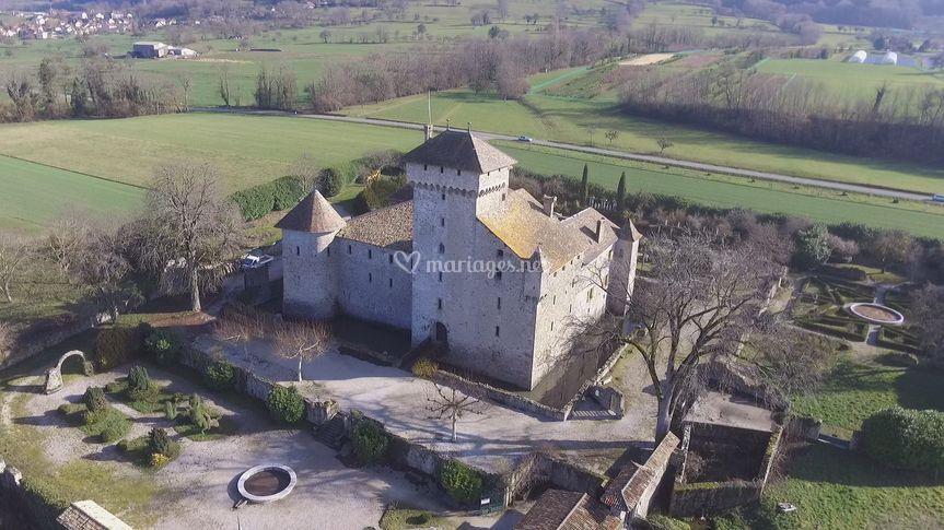 Mariage chateau (drône)