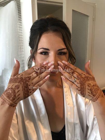 Maquillage/ henné realisé
