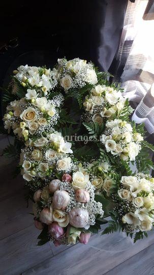 Bouquets de fleurs cortège