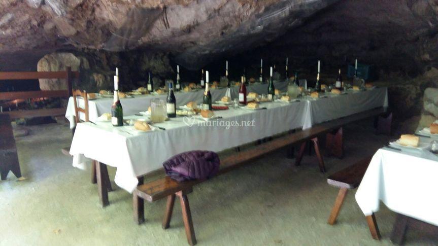Evènement dans les grottes