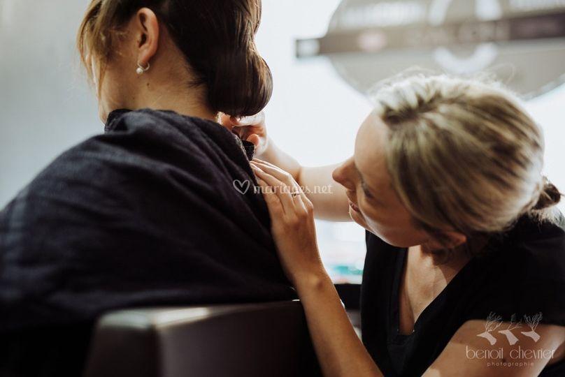 Préaration coiffure