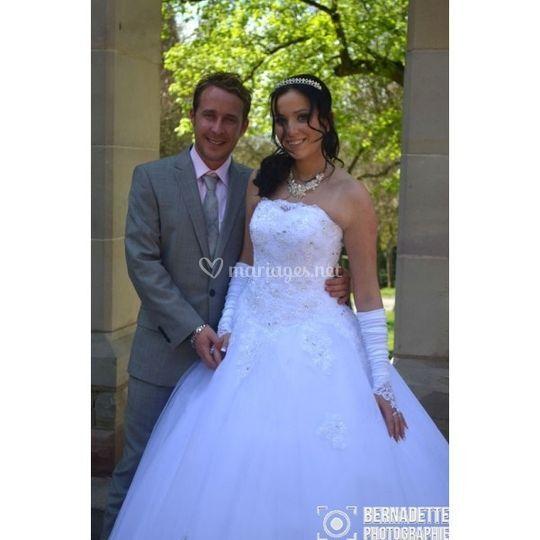 Photo des jeunes mariés