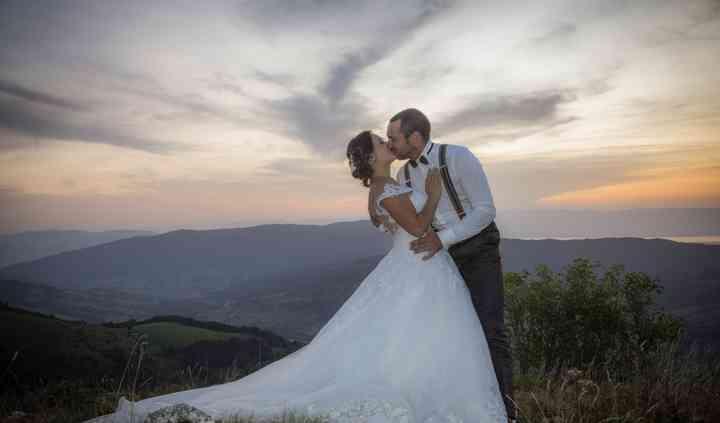 Photo de couple montagne