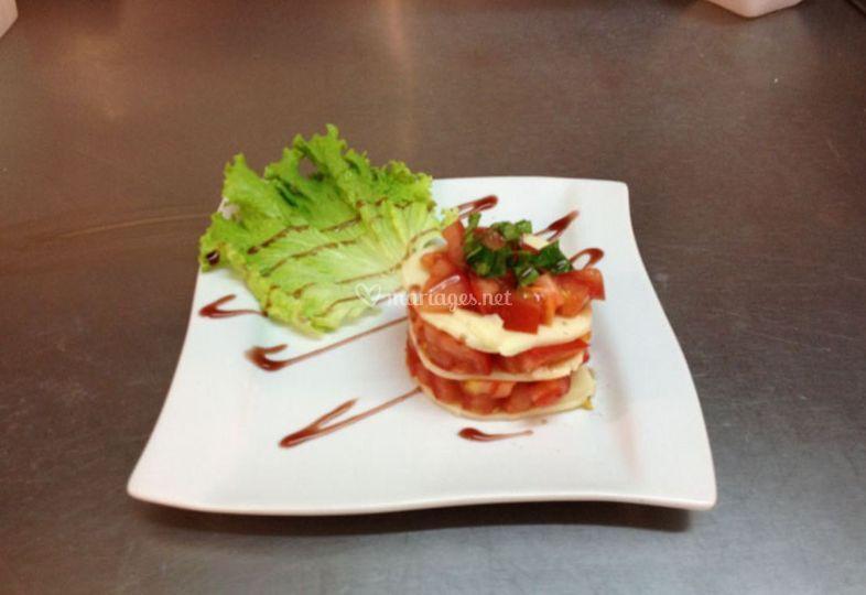 Tartare tomate mozza
