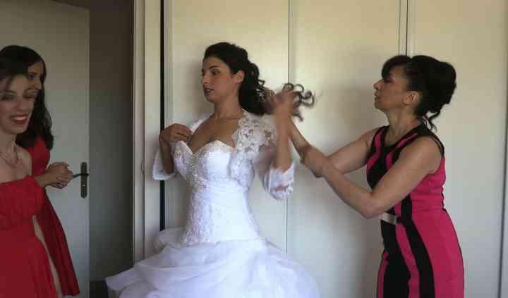 Habillage mariée