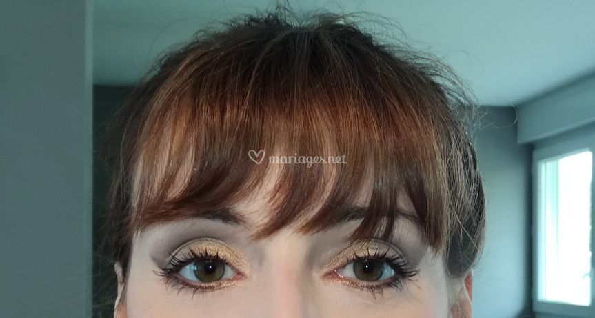Maquillage Mariée brun doré