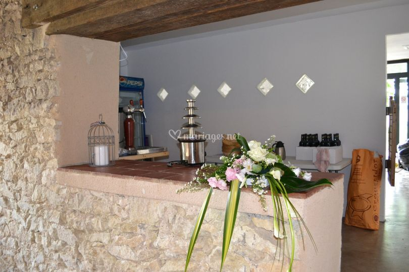 Bar de la salle de mariage