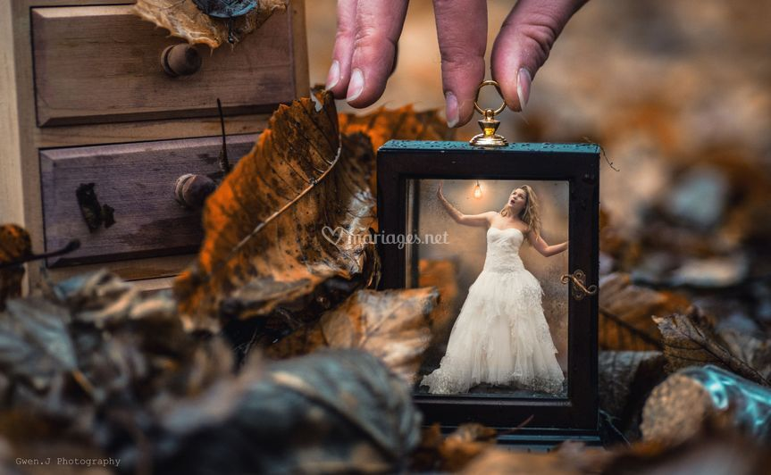 Une mariée en miniature
