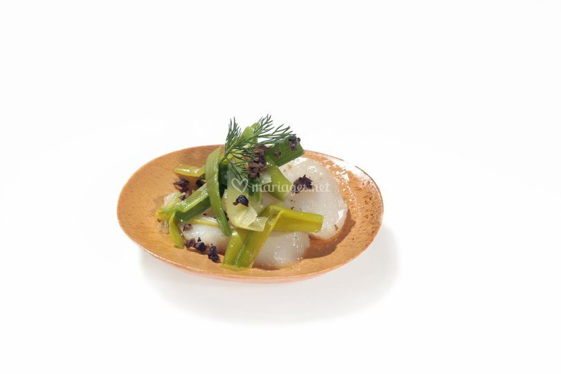 St-Jacques, poireau & truffe
