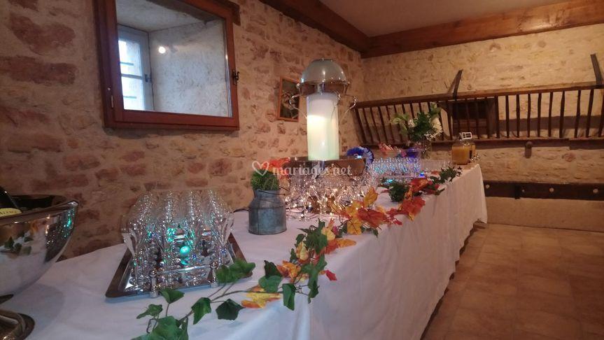 Buffet de cocktail d'automne