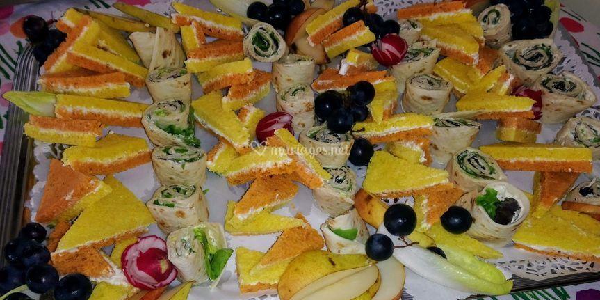 Wrap et mini sandwiche
