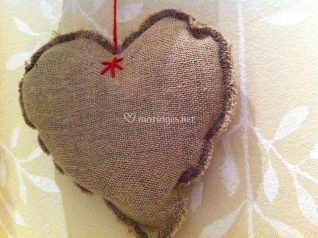 Coeur de lin - déco