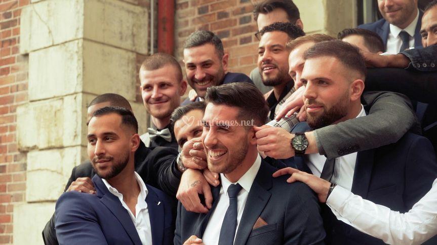 Le marié et les garçons