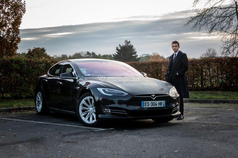 Tesla Model S avec chauffeur