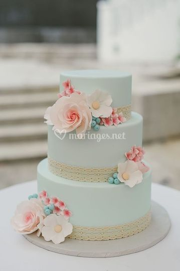 Wedding cake vitage pastel