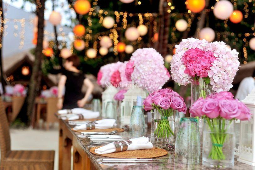 Déco table florale