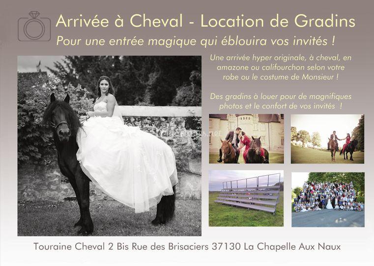 Arrivée à Cheval - Gradins