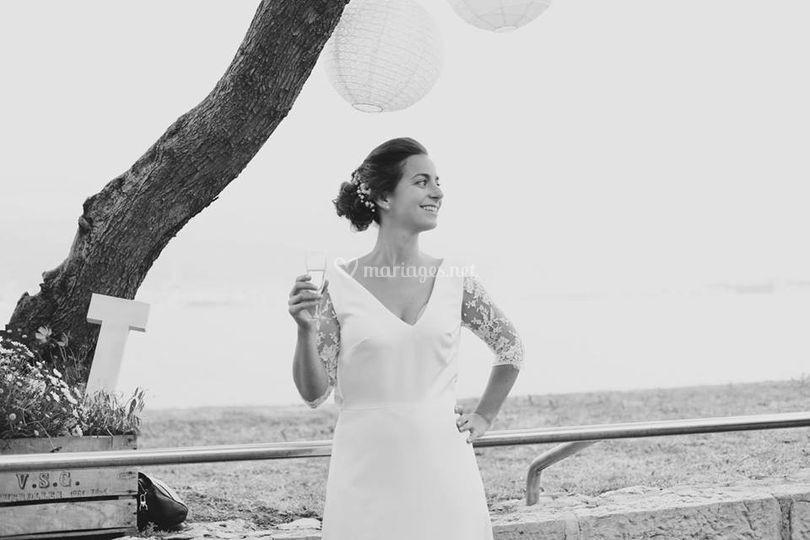 Robe de mariée décolleté V