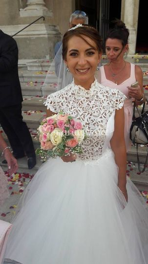 Robe de mariée et guipure