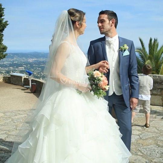 Les mariés aux colombes