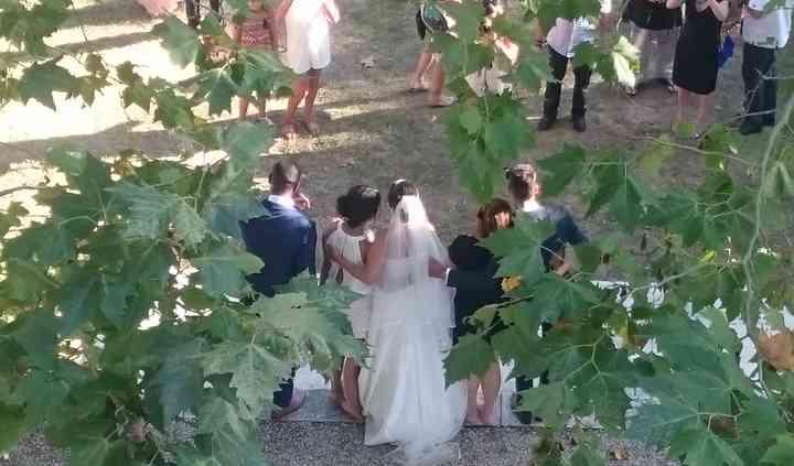 Arrivée des mariés...