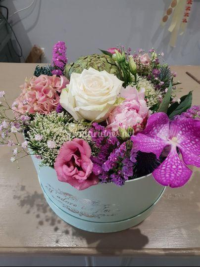 Boite chapeau floral