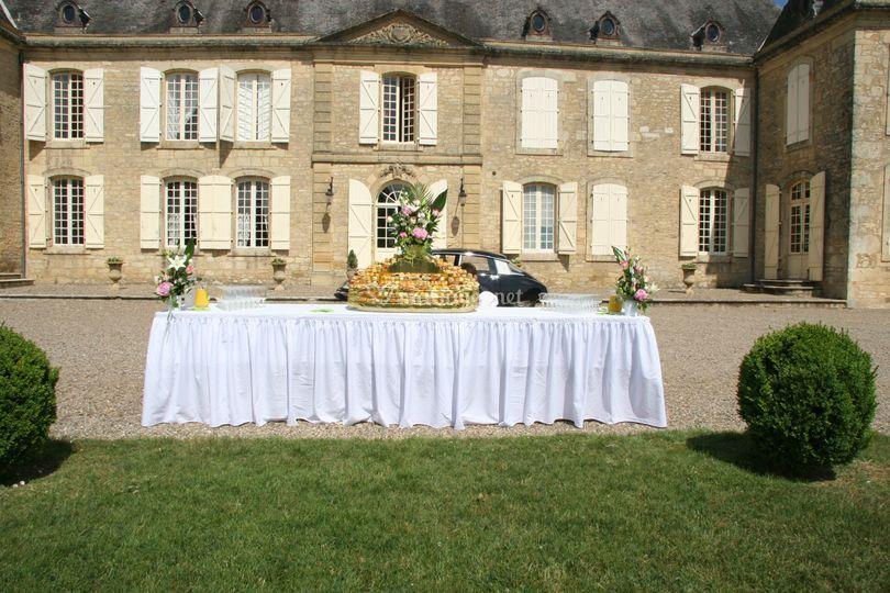 Buffet vin d'honneur mariage